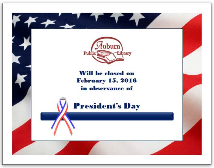 President's Day closing